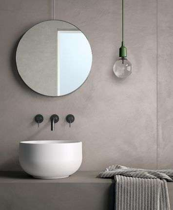 lavabo singolo da appoggio in ceramica