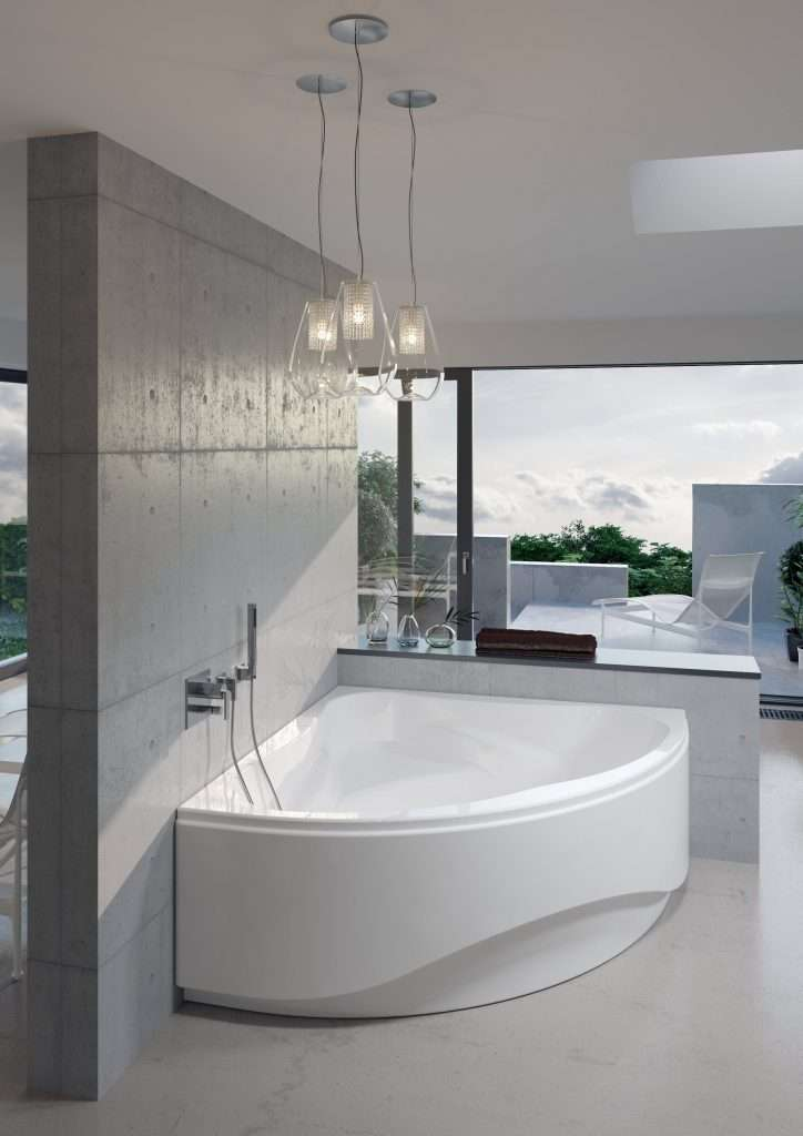 vasca da bagno a angolo