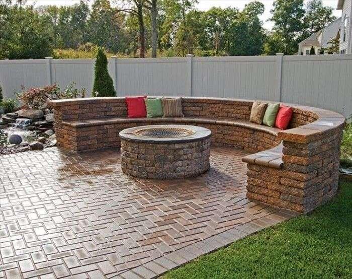 salotti da giardino in pietra e circolari