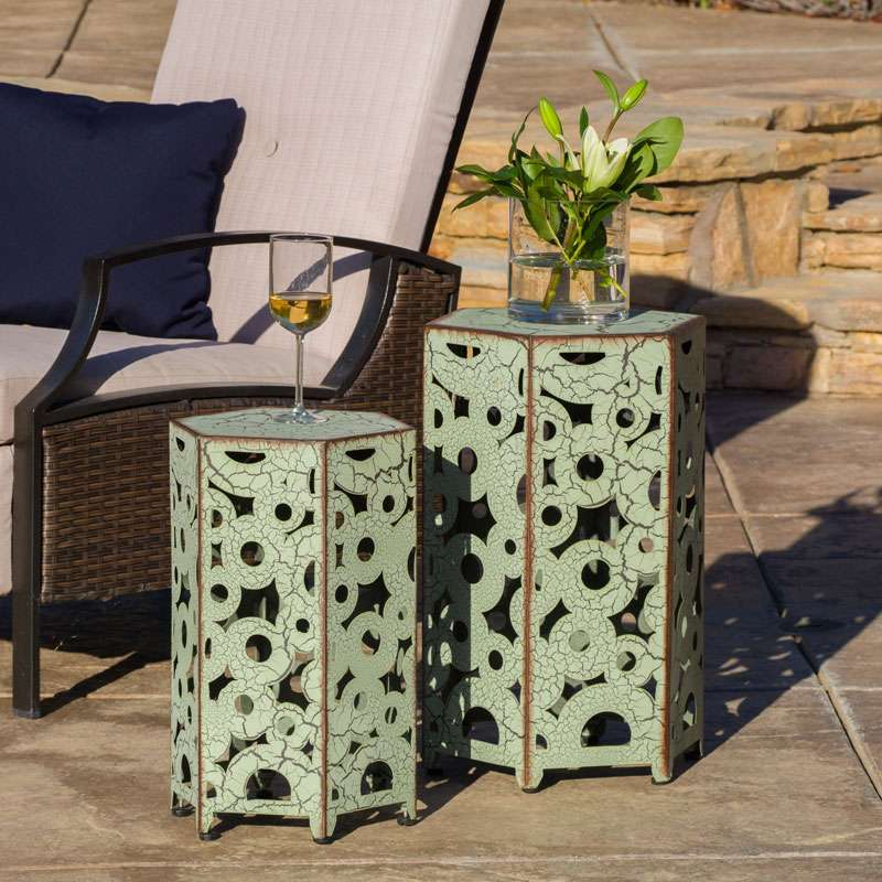 tavolini in ferro da giardino