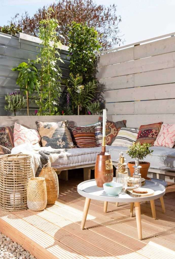 mobili da giardino boho chic